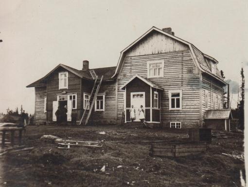 Lahdenperän rakennus ehkä 1920- luvulla.