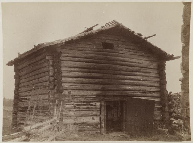 Riihilehdon vanha riihi vuodelta 1746 tästä talo saanut nimensä kuva Yrjö Blomstedt 1894