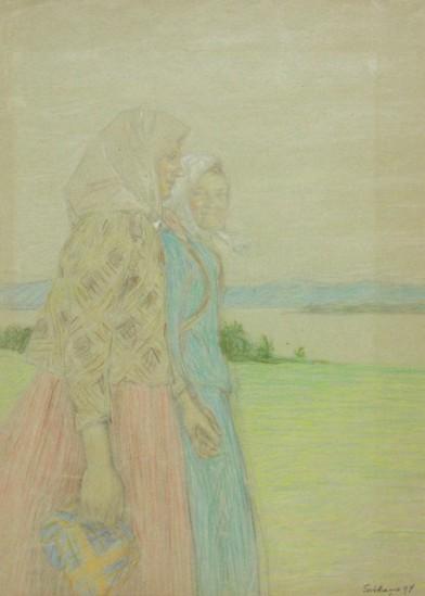 Sotkamo tyttöjä 1894 Louis Sparre