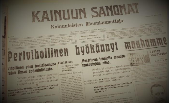30.11.1939 päivä, joka ei unohdu- Talvisota alkaa – edessä 105 tuskanpäivää